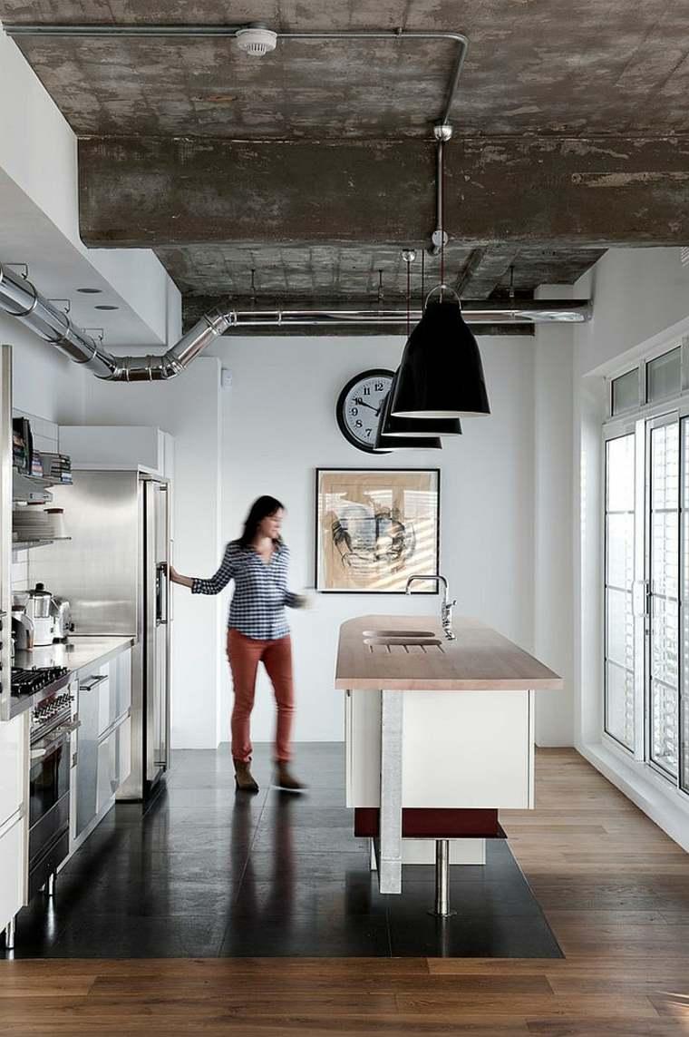 cuisine style atelier industriel je craque pour ce look. Black Bedroom Furniture Sets. Home Design Ideas